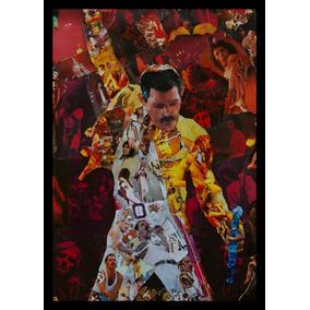 Quadro Banda Queen Freddie Mercury Arte Poster Moldurado