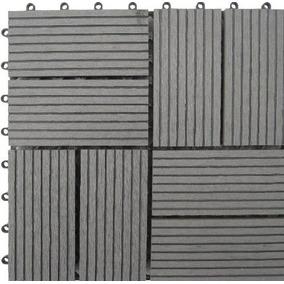 Naturesort N4-otm8g 8-slat Bamboo Composite Deck Tiles, Gre