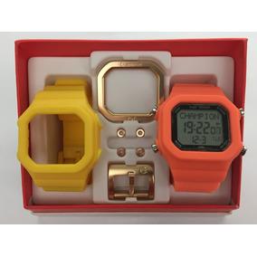 Relógio Champion Yot Kit Laranja E Amarelo Original Cp40180x