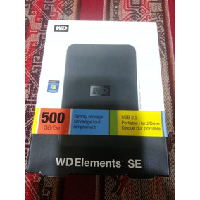 Disco Rigido Externo Western Digital Elements 500gb Usb2.0
