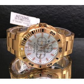 f48aa4ce1c5 Relogio Nautica N18522g N18522 Gold - Relógios no Mercado Livre Brasil