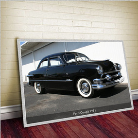 Ford Coupe 1951 - Tam. Gigante 60x42cm