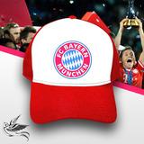 Boné Fc Bayern Munchen Vermelho Branco Trucker Frete Grátis 7b3a91bf24c