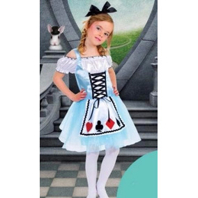 Fantasia Infantil Alice Pais Das Maravilhas Nova 4 A 7 Anos