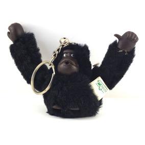 Chaveiro Para Mochila Macaco Macaquinho Preto Tecido B1353