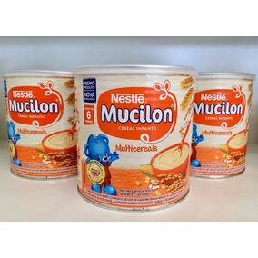 Mucilon Multicereais Cereal Infantil Kit 3 Latas 400g