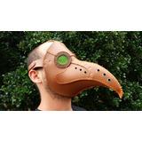 Máscara Doutor Médico Da Peste Negra Couro Steampunk Cosplay