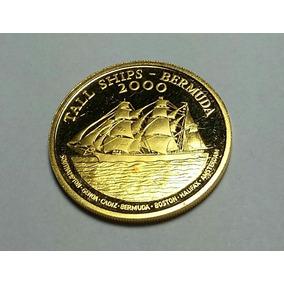 O201 Bermuda Moeda Ouro 2000 -15$ - 15,97 Gr 0.999 28,4 Mm