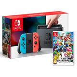 Consola Nintendo Switch Neon Joy-con Con Super Smash Bros
