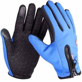 Guantes Tacticos De Neopreno Touch Color Azul Talla M D1120