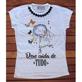 Camiseta Feminina Blusa Feminina T-shirt Gospel Evangélica