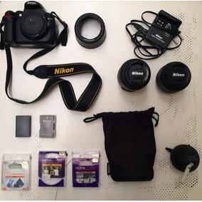 Kit Câmera Nikon D5000 + Lentes + Filtros + Bolsa Slingshot