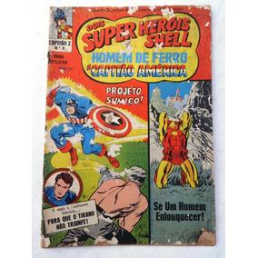 Capitão Z Nº 0 - Super Heróis Shell - Original - Ebal - 1967