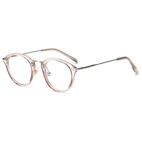 Armação Redonda Na Cor Branca Acetato Oculos De Grau - Óculos no ... 46768418df