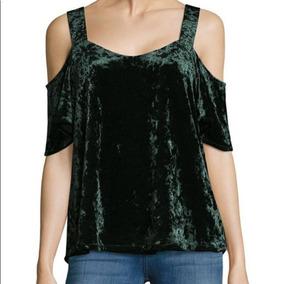 Blusa Verde Velvet / Terciopelo
