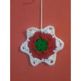 Estrella Adorno De Navidad Tejido A Crochet