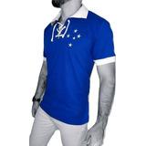 Camisa Polo Cruzeiro Retrô Cordinha