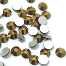 1.440 Cristais Swarovski, Ss3, 1,2mm, Dourado, Base Achatada