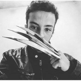 Garras Do Wolverine Adulto Em Abs Cromado + Tag Frete Grátis