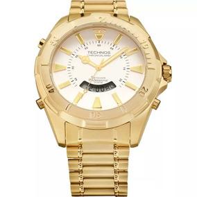 Relogio Technos Skydrive Dourado Masculino - Relógios De Pulso no ... ed6b84050e