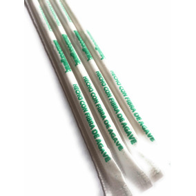 Popote Biodegradable Agave Popotl By Bamboorganic 2000 Bio