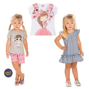 Kit 3 Roupas Serelepe Infantil Feminina Luxo Total