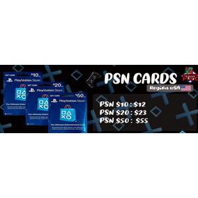Tarjetas Psn Región Usa Ps3 Ps4 Psn Saldo Psn Plus Fornite