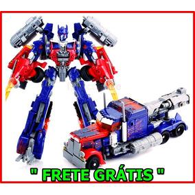 Boneco Transformers Optimus Prime Caminhão Robô Frete Grátis