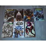 Lote De 7 Comics Batman Spiderman Deadpool Star Wars