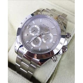Reloj Rolex Daytona Acero Y Esfera Gris Brillante Automatico