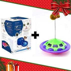 Kit 2 - Fonte Bebedouro Furacao Azul 220v + Brinquedo Freteg