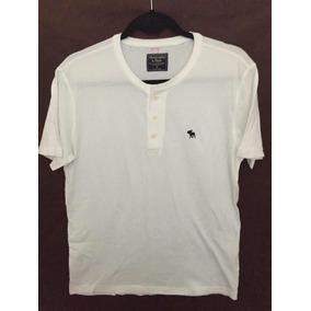 Camisa Abercrombie Masc M Branca Com Botão - Promoção f6fd10b23cb98