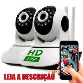 Camera De Segurança Wireless Wi-fi Noturna Gira 360 Graus