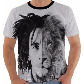 Camiseta 1689 Bob Marley Lion Leao Reggae Tribo Juda Jah Pb 009f71ded85