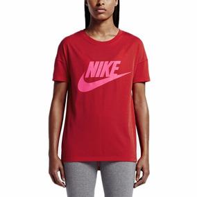 Camiseta Nike Signal Logo Tee 821993-658 Roja Para Mujer 91f9c455f8f