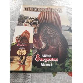Álbun Dinossauros Nestlé Surpresa Volume 3 (2 Unidades)