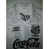 742306b537 Camisa Santos Antiga Coca Cola 1990 Umbro Original - 90