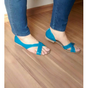 Sandália Azul Petroleo