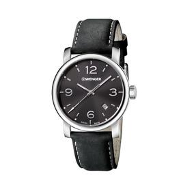 Relógio Suíço Pulseira De Couro Wenger Urban Metropolitan