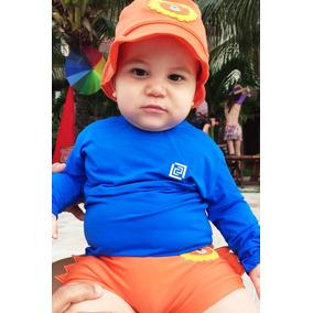 Kit 2 Camisas Proteção Uv Bebê Fpu 50+ Proteção Solar