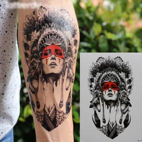 Tatuagem Temporária Fake Tatoo Pronta Entrega Modelo Índia