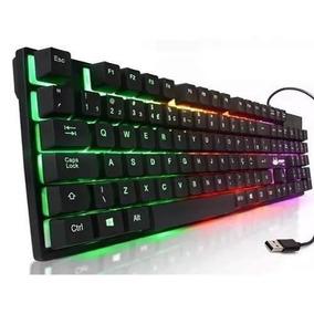 Teclado Gamer Sem-mecânico Luminoso Kp-2036