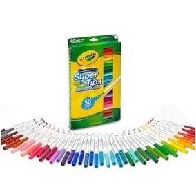 Canetinha Super Tips Lavável Washable 50 Cores Crayola