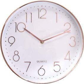 a90d45b667208 Relógio Parede Rose Gold - Relógios De Parede no Mercado Livre Brasil