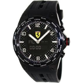 Ferrari World Time Carbon Fiber Dial Multinfuction Rubber St