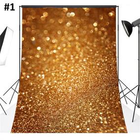 8 Colores Navidad Fotografía Fondo Vinilo... (#1 Golden)