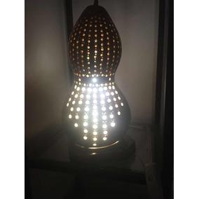 Luminária Abajour Decoração De Cabaça