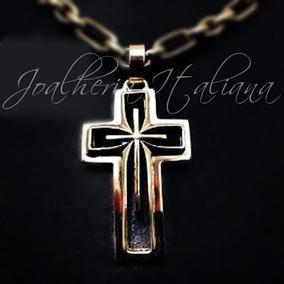 4e8a7cd347376 4225 Pingente De Crucifixo Vazado De Ouro 18k 750 - Joias e ...