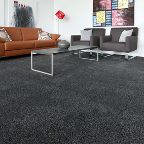 Alfombra Gris Charcoal Residencial 3.32 X 3.65 M Con Ribete