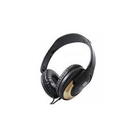 Headphone Conexao P2 Dourado Hp 350 Hard Line